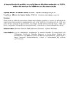 A IMPORTÂNCIA DA PRÁTICA EM SOLICITAR OS DIREITOS AUTORAIS E O ISBN: RELATO DO SERVIÇO DE BIBLIOTECA E DOCUMENTAÇÃO