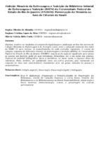 COLEÇÃO MEMÓRIA DA ENFERMAGEM E NUTRIÇÃO DA BIBLIOTECA SETORIAL DE ENFERMAGEM E NUTRIÇÃO (BSEN) DA UNIVERSIDADE FEDERAL DO ESTADO DO RIO DE JANEIRO (UNIRIO): PRESERVAÇÃO DA MEMÓRIA NA ÁREA DE CIÊNCIAS DA SAÚDE