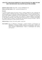 CRIAÇÃO, DESENVOLVIMENTO E MANUTENÇÃO DO ARQUIVO DE DOCUMENTOS DE UMA INSTITUIÇÃO FINANCEIRA