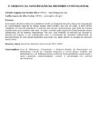 O ARQUIVO NA CONSTRUÇÃO DA MEMÓRIA INSTITUCIONAL