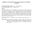 POLÍTICAS DE PRESERVAÇÃO DO ACERVO DE OBRAS RARAS DA BU/UFSC: UM ESTUDO