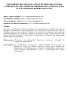 TRATAMENTO TÉCNICO DO ACERVO DE FITAS DO ESTÚDIO COMUNICA DA FACULDADE DE INFORMAÇÃO E COMUNICAÇÃO DA UNIVERSIDADE FEDERAL DE GOIÁS