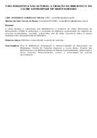 UMA BIBLIOTECA NAS ALTURAS: A CRIAÇÃO DA BIBLIOTECA DO CLUBE NITEROIENSE DE MONTANHISMO
