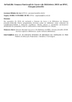 SeNaLiBi: Semana Nacional do Livro e da Biblioteca 2018 no IFSC, Câmpus Joinville