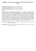 Biblioteca escolar: dilemas da Lei 12.244/2010 no Território do Sisal