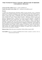 Plano Nacional de Leitura e Escrita e ODS Educação de Qualidade: convergências e discursos