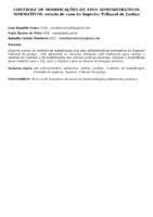 CONTROLE DE MODIFICAÇÕES DE ATOS ADMINISTRATIVOS NORMATIVOS: estudo de caso do Superior Tribunal de Justiça