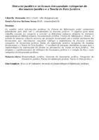 Discurso jurídico e as formas documentais: categorias de documento jurídico e a Teoria do Fato Jurídico