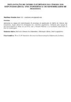 IMPLANTAÇÃO DO DIÁRIO ELETRÔNICO DA CÂMARA DOS DEPUTADOS (iDCD): UMA EXPERIÊNCIA DE REMODELAGEM DE PROCESSO.