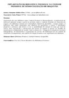 IMPLANTAÇÃO DA BIBLIOTECA PRISIONAL NA UNIDADE PRISIONAL DE RESSOCIALIZAÇÃO DE GRAJAÚ/MA