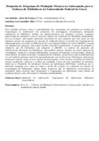 Proposta de Programa de Mediação Técnica da Informação para o Sistema de Bibliotecas da Universidade Federal do Ceará