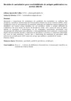 Revisão de metadados para confiabilidade de artigos publicados em acesso aberto