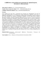 A biblioteca universitária nos processos de aprendizagem:  letramento informacional