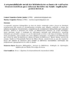 A responsabilidade social dos bibliotecários na busca de evidências técnico-científicas para informar decisões em Saúde: implicações prático-teóricas