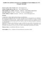Análise de medidas acessíveis na Biblioteca Universitária da UFC Campus Quixadá