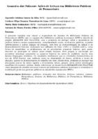 Armazém das Palavras: Ações de Leitura em Bibliotecas Públicas de Pernambuco