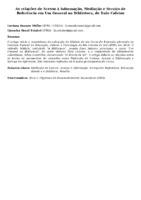 As relações de Acesso à Informação, Mediação e Serviço de Referência em Um General na Biblioteca, de Ítalo Calvino