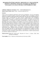 INFORMAÇÃO ÉTNICO-RACIAL, BIBLIOTECAS E EDUCAÇÃO DE JOVENS E ADULTOS: estudo das estratégias de difusão da informação e da cultura africana e afro-brasileira na EJA