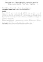 Informação para o Desenvolvimento Sustentável: ações em bibliotecas na cidade de Porto Velho – Rondônia