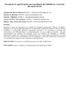 Promoção de qualificação para auxiliares de biblioteca: o farol da inovação social