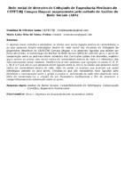 Rede social de docentes do Colegiado de Engenharia Mecânica do CEFET/RJ Campus Itaguaí: mapeamento pelo método de Análise de Rede Sociais (ARS)
