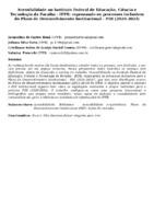 Acessibilidade no Instituto Federal de Educação, Ciência e Tecnologia da Paraíba - IFPB: repensando os processos inclusivos do Plano de Desenvolvimento Institucional - PDI (2020-2024)