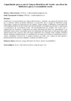 Capacitação para o uso de Língua Brasileira de Sinais: um olhar da biblioteca para a comunidade surda
