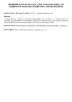 DISSEMINAÇÃO DA INFORMAÇÃO, ACESSIBILIDADE EM AMBIENTES DIGITAIS E CIDADANIA: INTERCONEXÕES