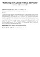 PROJETO REMIÇÃO PELA LEITURA: atuação das bibliotecárias da Universidade Federal do Maranhão – Campus Grajaú na Unidade Prisional de Ressocialização