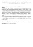 Relações de Poder e o Desenvolvimento de coleções de Bibliotecas Públicas municipais de Belo Horizonte