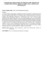 ANÁLISE DAS ONTOLOGIAS NO PROCESSO DE CRIAÇÃO DE GAMES EDUCATIVOS: ARTICULAÇÕES COM A CIÊNCIA DA INFORMAÇÃO