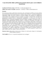 Uma discussão sobre políticas de acesso aberto para universidades brasileiras