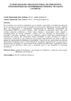 A COMUNICAÇÃO ORGANIZACIONAL DA BIBLIOTECA UNIVERSITÁRIA DA UNIVERSIDADE FEDERAL DE SANTA CATARINA