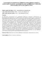 A educação de usuários em bibliotecas universitárias visando à preservação do acervo: um estudo de caso na Biblioteca Central da Universidade Federal do Espírito Santo