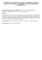 AUTOMAÇÃO DAS BIBLIOTECAS DA UNIVERSIDADE FEDERAL RURAL DA AMAZÔNIA: A EXPERIÊNCIA COM O SOFTWARE SGBIBLIOTECA