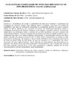 AVALIAÇÃO DA USABILIDADE DE SITES DAS BIBLIOTECAS DE IFES BRASILEIRAS: recorte institucional
