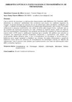 BIBLIOTECA PÚBLICA ESPECIALIZADA E TRANSFERÊNCIA DE TECNOLOGIA