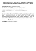 Bibliotecas jurídicas e suas coleções: uma análise da política de desenvolvimento de coleções da biblioteca do TRT da 4ª Região