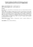 Coleção Academia Brasileira de Ciências: pesquisa e processamento técnico de seu acervo bibliográfico