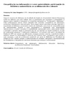 Competência em informação e o novo universitário: participação da biblioteca universitária no acolhimento dos calouros