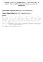 EVENTOS CULTURAIS NA BIBLIOTECA CAROLINA MARIA DE JESUS/IFRJ- CAMPUS DUQUE DE CAXIAS: um relato de experiência