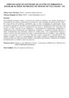 IMPLANTAÇÃO DE SOFTWARE DE GESTÃO DE BIBLIOTECA ESCOLAR NA REDE MUNICIPAL DE ENSINO DE VILA VELHA - ES