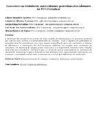 Inventário em bibliotecas universitárias: procedimentos adotados na PUC-Campinas
