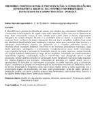 MEMÓRIA INSTITUCIONAL E PRESERVAÇÃO: A CONSTRUÇÃO DA HEMEROTECA DIGITAL DO CENTRO UNIVERSITÁRIO INTEGRADO DE CAMPO MOURÃO – PARANÁ.