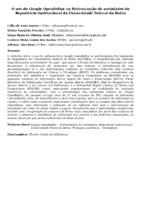 O uso do Google OpenRefine na Padronização de metadados do Repositório Institucional da Universidade Federal da Bahia