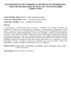 PLANEJAMENTO EM UNIDADES E SISTEMAS DE INFORMAÇÃO: Centro de Documentação do Museu de Arte da Pampulha (CEDOC-MAP)