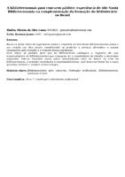A biblioteconomia para concurso público: experiência do site Santa Biblioteconomia na complementação da formação do bibliotecário no Brasil