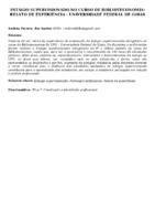 ESTÁGIO SUPERVISIONADO NO CURSO DE BIBLIOTECONOMIA: RELATO DE EXPERIÊNCIA - UNIVERSIDADE FEDERAL DE GOIÁS
