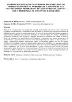 INSTITUCIONALIZAÇÃO DO CURSO DE BACHARELADO EM BIBLIOTECONOMIA NA MODALIDADE A DISTÂNCIA NAS UNIVERSIDADES FEDERAIS DO ESTADO DO RIO DE JANEIRO : SOB A PERCEPÇÃO DE DISCENTES E DOCENTES