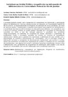 Iniciativas na Gestão Pública: competência em informação de bibliotecários da Universidade Federal do Rio de Janeiro